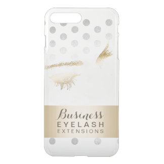Modern Silver & Gold Eyelash Extensions iPhone 8 Plus/7 Plus Case