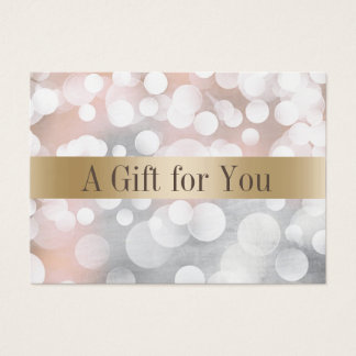 Modern Silver & Gold Salon Spa Gift Certificates