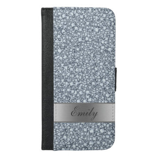 Modern Silver Gray And White Diamonds Pattern iPhone 6/6s Plus Wallet Case