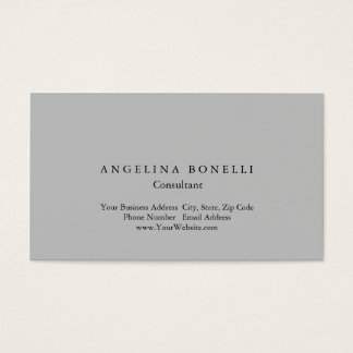 Modern Silver Gray Minimalist Consultant Manager