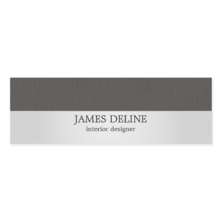 Modern Silver Grey Texture Interior Designer Pack Of Skinny Business Cards