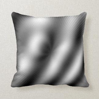 Modern Silver Lines 2 Throw Pillow