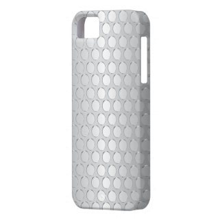 Modern Silver Patterns Metal Texture iPhone 5 Case