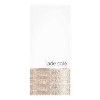 Modern Silver Sequins Beauty Salon Rack Card