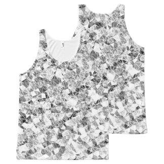 Modern Silver Sparkle All-Over Print Singlet