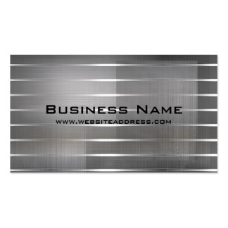 Modern Silver Stripes Business Cards