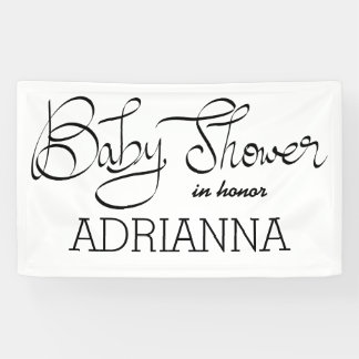 Modern Simple Baby Shower Typography Banner