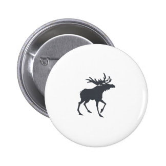 Modern, Simple & Beautiful Hand Drawn Antler 6 Cm Round Badge
