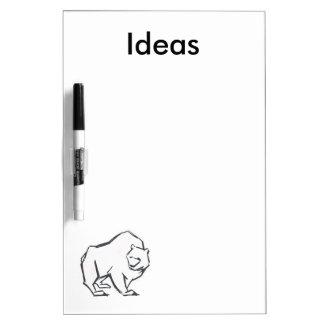 Modern, Simple & Beautiful Hand Drawn Bear Dry-Erase Whiteboard