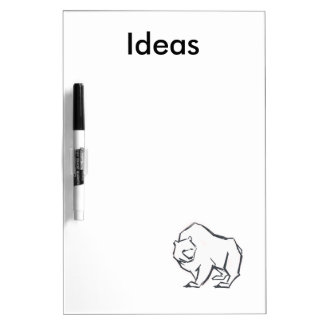 Modern, Simple & Beautiful Hand Drawn Bear Dry Erase Whiteboards