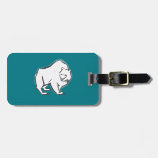 Modern, Simple & Beautiful Hand Drawn Bear Luggage Tag