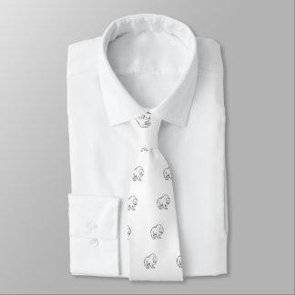 Modern, Simple & Beautiful Hand Drawn Bear Tie