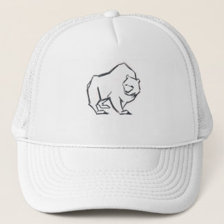 Modern, Simple & Beautiful Hand Drawn Bear Trucker Hat