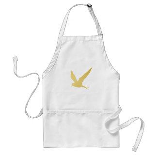 Modern, Simple & Beautiful Hand Drawn Bird in Gold Standard Apron