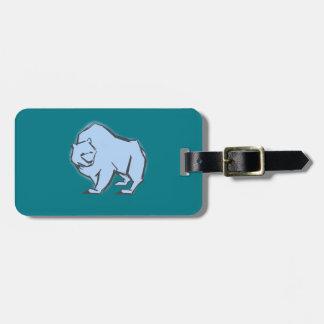 Modern, Simple & Beautiful Hand Drawn Blue Bear Bag Tag