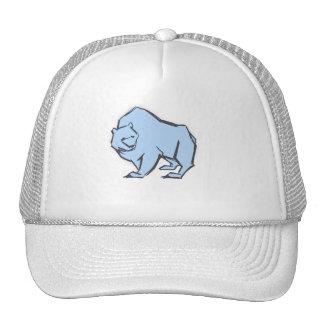 Modern, Simple & Beautiful Hand Drawn Blue Bear Cap