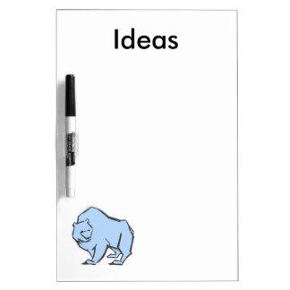 Modern, Simple & Beautiful Hand Drawn Blue Bear Dry-Erase Board