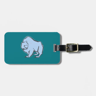 Modern, Simple & Beautiful Hand Drawn Blue Bear Luggage Tag