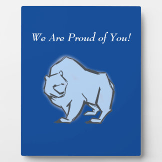 Modern, Simple & Beautiful Hand Drawn Blue Bear Plaque