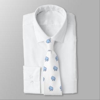 Modern, Simple & Beautiful Hand Drawn Blue Bear Tie