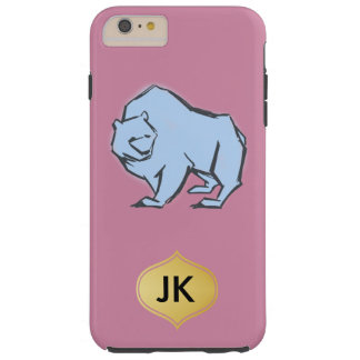 Modern, Simple & Beautiful Hand Drawn Blue Bear Tough iPhone 6 Plus Case