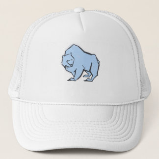 Modern, Simple & Beautiful Hand Drawn Blue Bear Trucker Hat