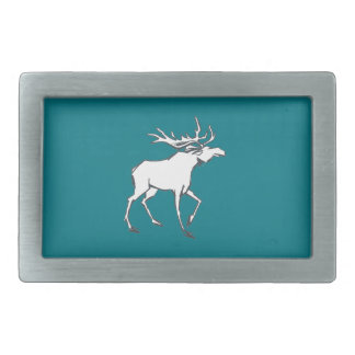 Modern, Simple & Beautiful Hand Drawn Deer Rectangular Belt Buckle