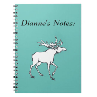 Modern, Simple & Beautiful Hand Drawn Deer Spiral Note Book