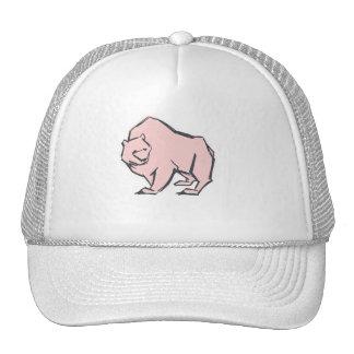 Modern, Simple & Beautiful Hand Drawn Pink Bear Cap