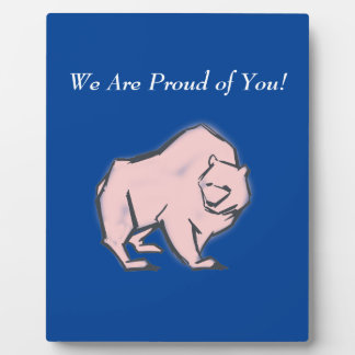 Modern, Simple & Beautiful Hand Drawn Pink Bear Plaque