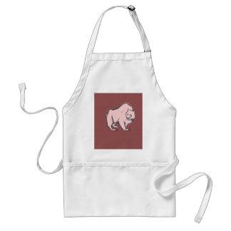 Modern, Simple & Beautiful Hand Drawn Pink Bear Standard Apron