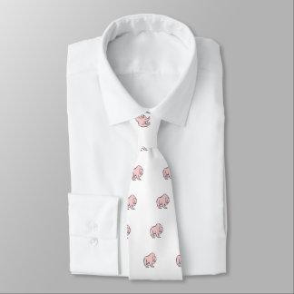 Modern, Simple & Beautiful Hand Drawn Pink Bear Tie