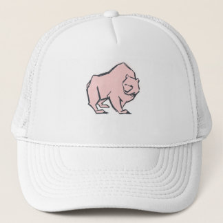 Modern, Simple & Beautiful Hand Drawn Pink Bear Trucker Hat
