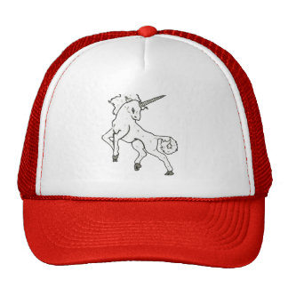 Modern, Simple & Beautiful Hand Drawn Unicorn Cap