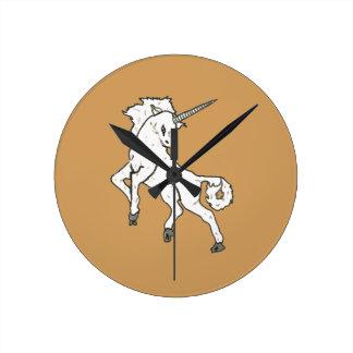 Modern, Simple & Beautiful Hand Drawn Unicorn Wall Clocks