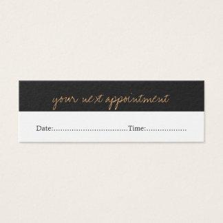 Modern Simple Beauty Salon Appointment Card