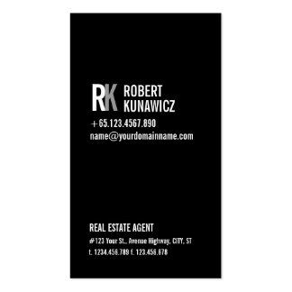 Modern Simple Black & White Card Pack Of Standard Business Cards