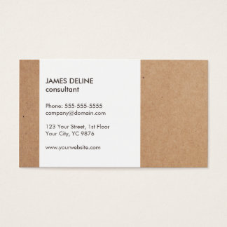 Modern Simple Cardboard White Consultant