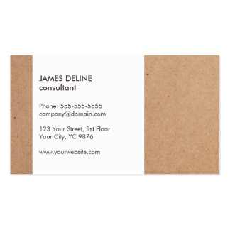 Modern Simple Cardboard White Consultant Pack Of Standard Business Cards