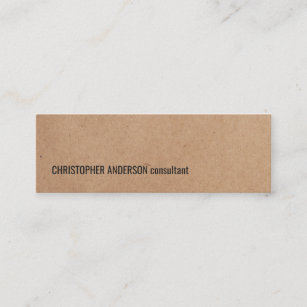 Kraft business cards zazzle au modern simple cool kraft paper consultant mini business card reheart Image collections