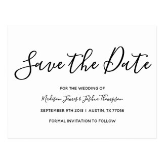 Modern | Simple Elegance | Save the Date Postcard