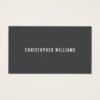 Modern Simple Elegant Texture Grey Consultant Business Card