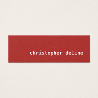 Modern Simple Elegant Texture Red Consultant Mini Business Card