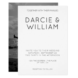 Modern Simple Elegant Wedding Personalised Photo Card