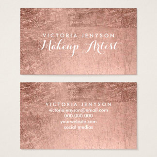 Modern simple faux rose gold chic makeup artist
