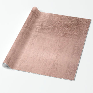 Modern simple faux rose gold wrapping paper
