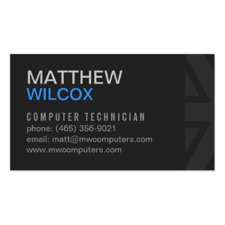 Modern & Simple Gray Business Card Design