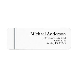 Modern Simple Grey Pinstripe Address Labels