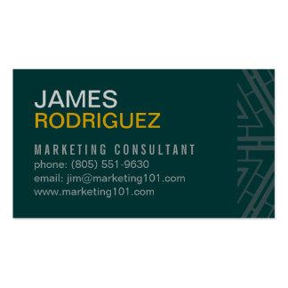 Modern & Simple Hunter Green Business Card Design