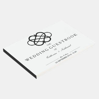 Modern Simple Infinity Heart Wedding Guest Book